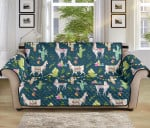 Llama With Cactus Pattern Sofa Couch Protector Cover