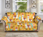 Llama Cute Yellow Pattern Sofa Couch Protector Cover