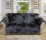 Acu Digital Black Camouflage Pattern Sofa Couch Protector Cover
