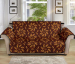 Agricultural Brown Wheat Pattern Sofa Couch Protector Cover