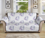 Wolf With Flower Pattern Sofa Couch Protector Cover
