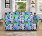 Elephant Art Color Pattern Sofa Couch Protector Cover