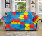 Autism Awareness Colorful Pattern Sofa Couch Protector Cover