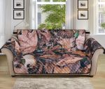 Camouflage Realistic Tree Leaf Pattern Sofa Couch Protector Cover