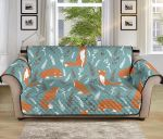 Fox Forest Floral Autumn Pattern Sofa Couch Protector Cover