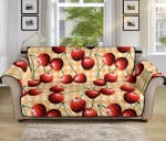 Cherry Orange Plaid Pattern Sofa Couch Protector Cover