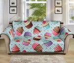 Cupcakes Fancy Heart Pattern Sofa Couch Protector Cover