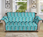 Phlebotomist Concept Design Blue Theme Sofa Couch Protector Cover