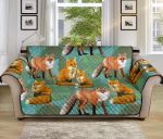 Fox Autumn Leaves Pattern Sofa Couch Protector Cover