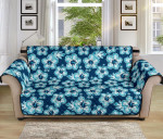 Hibiscus Flower Hawaiian Pattern Sofa Couch Protector Cover