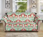 Swedish Dala Style Pattern Sofa Couch Protector Cover