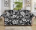 Floral Black And White Pattern Sofa Couch Protector Cover