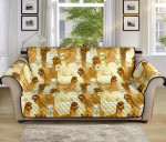 Alpaca Watercolor Design Pattern Sofa Couch Protector Cover
