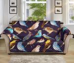 Bird Cute Floral Pattern Sofa Couch Protector Cover
