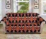 Totem Pole Pattern Black Theme Sofa Couch Protector Cover