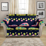 Camper Cute Camping Day Flower Pattern Sofa Couch Protector Cover