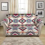 Aztec Indian Navajo Art Themed Pattern Sofa Couch Protector Cover