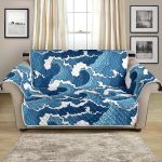 The Angry Of Nature With Great Waves Pattern Sofa Couch Protector Cover