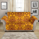 Mandala Octopus Yellow Background Pattern Sofa Couch Protector Cover