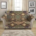 Mandala Motif Kaleidoscope Themed Design Pattern Sofa Couch Protector Cover