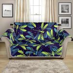 Dragonfly In Lime Blue Pattern Sofa Couch Protector Cover