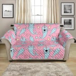 Narwhal Cartoon Cute Animal On Pink Background Pattern Sofa Couch Protector Cover