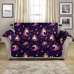 Unicorn Princess Star Sparkle Pattern Sofa Couch Protector Cover