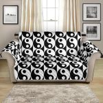 Black And White Yin Yang Classic Pattern Sofa Couch Protector Cover