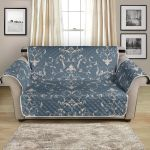 Elegant Teal Damask Pattern Sofa Couch Protector Cover