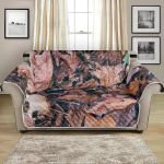 Camouflage Dry Tree Leaf Pattern Sofa Couch Protector Cover