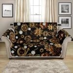 Golden Steampunk Butterfly Design Pattern Sofa Couch Protector Cover