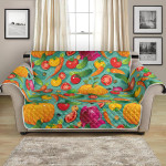 Fresh Vegan Colorful Themed Pattern Sofa Couch Protector Cover