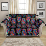 Colorful Buddha Head Pattern Sofa Couch Protector Cover