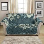 Hawaiian Hibiscus And Other Plants Pattern Sofa Couch Protector Cover