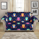 Colorful Owl Cute Cartoon Themed Pattern Sofa Couch Protector Cover