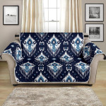Ethnic Ornament Rhombus Themed Pattern Sofa Couch Protector Cover