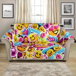 Fantasy Emotion Emoji Sticker Pattern Sofa Couch Protector Cover