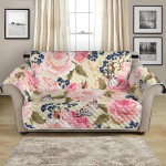 Beautiful Floral Pink Butterfly Pattern Sofa Couch Protector Cover