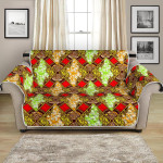 African Classic Golden Factor Pattern Sofa Couch Protector Cover
