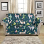 Cute Llama With Cactus Cartoon Pattern Sofa Couch Protector Cover