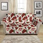 Old School Tattoo Rose Flower Pattern Sofa Couch Protector Cover