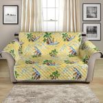 Surf Catch The Wave On Yellow Background Pattern Sofa Couch Protector Cover