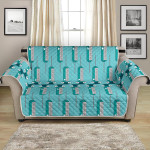 Blue Phlebotomist Concept Design Pattern Sofa Couch Protector Cover