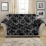 Sun Moon Black And White Light Pattern Sofa Couch Protector Cover