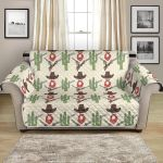 Western Cowboy And Cactus On Desert Pattern Sofa Couch Protector Cover