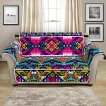 Colorful Ethnic Indian Navajo Pattern Sofa Couch Protector Cover
