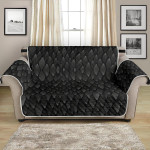 Dark Tone Snake Skin Textured Pattern Sofa Couch Protector Cover