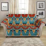 Geometric Kente African Design Themed Pattern Sofa Couch Protector Cover