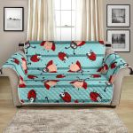 Ladybug Happy Cartoon Pattern Sofa Couch Protector Cover