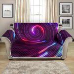 Vortex Twist Swirl Purple Neon Modern Color Pattern Sofa Couch Protector Cover